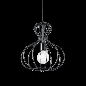 Lampa Suspendata AMPOLLA NERO E27 max 1 x 60W