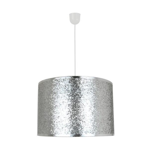 Lustra Melly argintie din plastic si textil 1