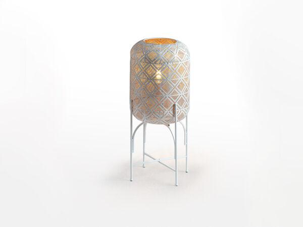 Lampadar alb din metal Jana S 1